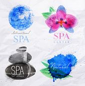 Постер, плакат: Symbols Spa Watercolor