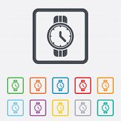 Wrist Watch sign icon. Mechanical clock symbol.
