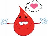 pic of open heart surgery  - Smiling Red Blood Drop Cartoon Mascot Character With Open Arms For Hugging - JPG