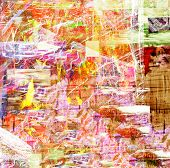 Very Interesting Abstract image On Canvas