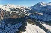 Jungfrau Region Helicopter View In Winter