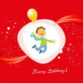 Vector happy birthday fun greeting card