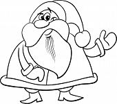 Santa Claus Cartoon Coloring Book