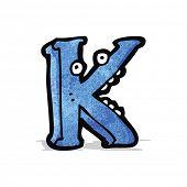 cartoon letter k