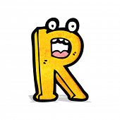 cartoon letter r