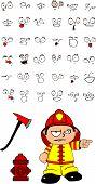 firefighter kid cartoon set8