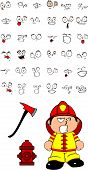 firefighter kid cartoon set7