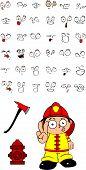 firefighter kid cartoon set2