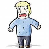 cartoon shocked blond man