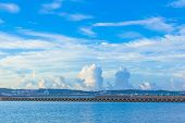 White clouds and blue ocean in Okinawa
