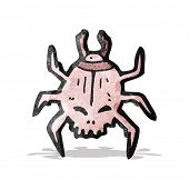 spooky skull beetle cartoon