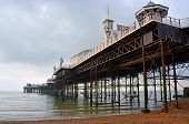 Brighton England - View Of Brighton Pier & Structure From Underneath.