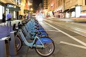 San Francisco - October 17 2014: Bike Share in the Bay Area with 700 bikes
