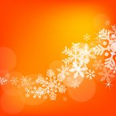 Abstract Christmas background with snowflakes and copy space