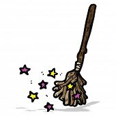 cartoon witch's broom