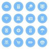 Cloud computing web icons set