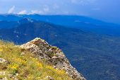 stones on mountain top in Crimea