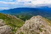 Wide view on crimean mountains