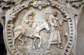stock photo of christchild  - Flight to Egypt, Bethlehem Milk Grotto, Israel