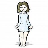 cartoon woman in night dress