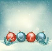 Christmas background with a 2015 made out of baubles. Vector.