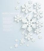 Christmas postcard with snowflakes. Vector.