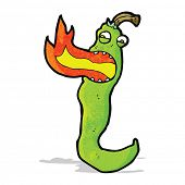 cartoon fire breathing chili pepper