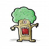 cartoon monster tree
