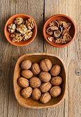 Walnuts, Core And Nutshell