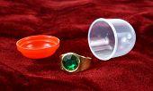 Vending machine jewelry ring