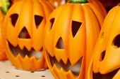 Ceramic pumpkins for Halloween