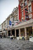 BRIGHTON - April 06: Theatre Royal and Building Facades in Brighton, England on April 06, 2014