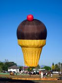 Ice cream hot air balloon