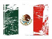 vector bandeira mexicana de grunge