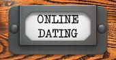 Online Dating - Concept on Label Holder.
