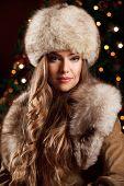 Beautiful Rich Woman in fur