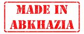 Made in Abkhazia on  Rubber Stamp.