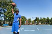 Basketball Player Palming The Ball