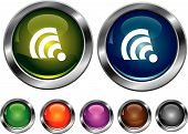Vector Collection Icons With Rss Sign