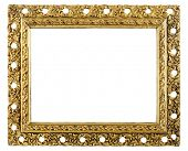 retro very old gold frame