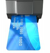 Credit Card In Payment Slot
