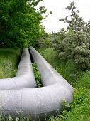 pipeline on the grass