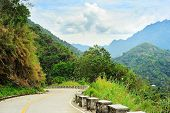 stock photo of luzon  - Empty Road in Cordillera Mountains Luzon Philippines - JPG