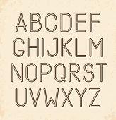 Retro Alphabet. Type, Font, Vintage Typography.