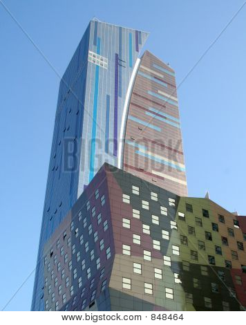 poster of Colorful New York City Building