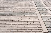 picture of paving stone  - Stone street blocks paving floor background texture - JPG