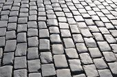 picture of cobblestone  - Granite cobblestoned pavement background of street surface - JPG