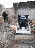 Bobcat Skid Steer Loader In Derelict Building