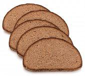 foto of fresh slice bread  - Slice of fresh rye bread isolated on white background cutout - JPG