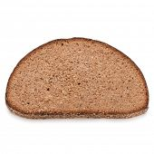 pic of fresh slice bread  - Slice of fresh rye bread isolated on white background cutout - JPG